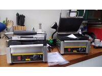Two X Buffalo Counter Top Contact Grills / Panini Makers
