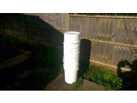 10 Buckets Approx 25lt white food grade plastic buckets with lid Great for storage