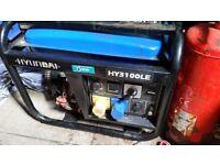Hyundai HY3100LE petrol generator electric start
