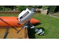 evinrude twin 4hp outboard engine