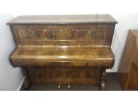 Ornate Eavestaff Upright Piano With Sconces DELIVERY AVAILABLE