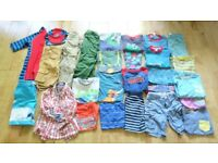 Boy's summer clothes bundle 4-5 years: great brands incl. Mini Boden, Fat Face, Zara, Polarn O Pyret