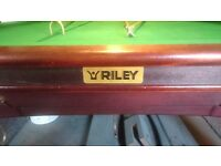 RILEY PROF SNOOKER TABLE FULL SIZE 12FT -ALREADY DISMANTLED- (INC SCOREBOARDS)