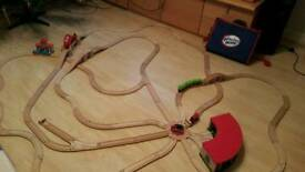 Brio wooden train set bundle. Trains, Garage, bag and extras