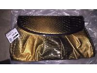 Metallic snake Skin Clutch Bag from Aldo