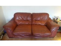 3 seater and 2 seater sofa & large footstool