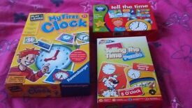 "3 educational ""learn to tell the time"" games! A fun way to teach your child to tell the time."
