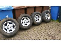 4 x 4 alloy wheels and tyres