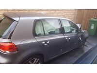 2009 vw golf 6 accident damage for parts