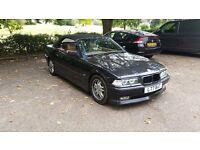 BMW E36 325I 2.5 auto Black Alpina Convertible 1 year MOT Sport Classic car px e39 e34 e30 e46