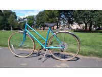 Beautiful Blue Vintage Raleigh 5 Speed Ladies Bicycle With New Brakes!