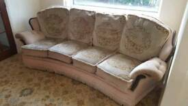 House Clearance Cream Recliner Sofas LS16 Adel