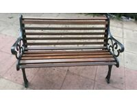 antique cast iron bench refurbished