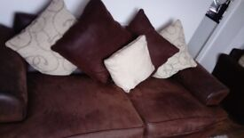 Sofas, 3 seater and 2 seater