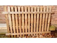 6ft heavy duty fence panel and 2 x 2.4m long 100x100mm heavy duty fence posts.
