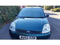Ford fiesta 112months mot service history, cheap on fuel and tax central lock great drive