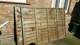 3 6x4 foot fence panels