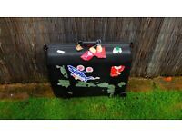 Samsonite large Hold Hard case Shell Suitcase Black with Key