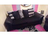 3 Seater sofa + Swivel armchair.