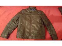Boys next black leather jacket age 6