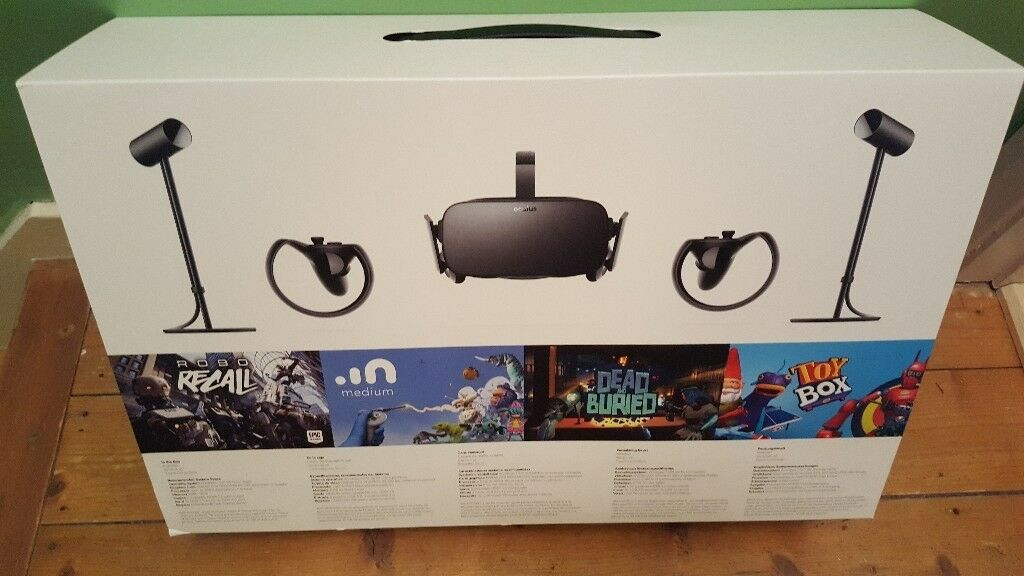 Unopened - new. Oculus rift with controllers