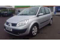 7 SEATER RENAULT GRAND SCENIC 1.6 MANUAL IN EXCELLENT CONDITION. 1 YEAR MOT. FULL SERVICE HISTORY.
