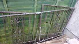 Metal galvanised railings