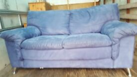 Blue colour nice and good codition two seater sofa
