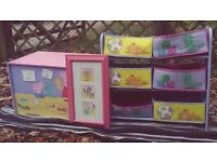 Peppa Pig Toy Box with matching 6 drawer storage unit and Peppa Pig Picture
