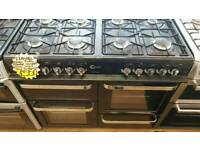 FLAVEL RANGE 100CM DUEL FUEL COOKER IN BLACK