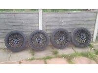 """18"""" black alloy wheels"""