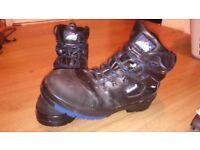Steel toe cap waterproof work boots