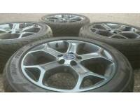 """GENUINE FORD 17"""" ALLOY WHEELS & TYRES 5X108 ST FOCUS MONDEO TRANSIT CONNECT GALAXY CMAX"""