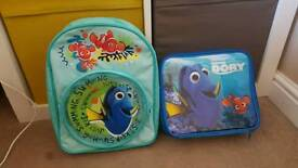 Finding dory lunch box and backpack