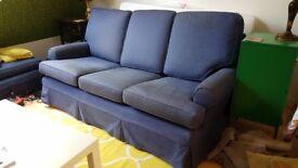 FREE blue 3 Seater Sofa
