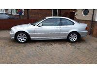 BMW 318CI SE 2002 ONLY 59863 MILES, 2.0 PETROL MANUAL, 12 MONTHS MOT