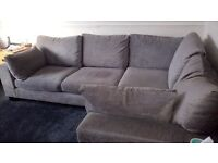 for sale grey left hand corner sofa from next