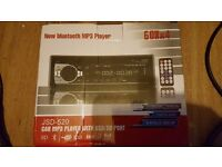 BLUETOOTH/MP3 CAR STEREO WITH REMOTE (NEW)