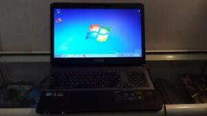 "Used 17"" Asus ROG Laptop with Core i7 Processor, HDMI, Webcam and Wireless for Sale"