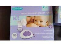 Lansinoh single electric breast pump and accessories