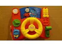 Thomas and Friends steering wheel, controls etc. Batteries work