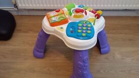 V-Tech Play and Learn Activity Table - Baby Toddler Kids Toy