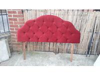 red buttoned draylon headboard for double bed