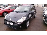 REDUCED NOW ONLY £1995 2009 RENAULT CLIO 1.2 EXTREME IN BLACK NOV 2018 MOT F/S/H E/W E/M CD + MORE