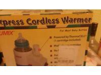 Cordless bottle warmer