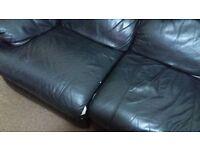 Recline leather sofa black £50