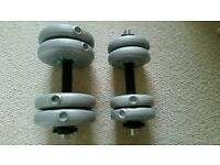 2 x York Dumbbells with 8 individual weights (15kg total)