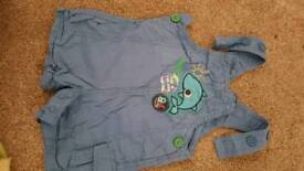 2 x Dungarees 3-6months -NEXT + M&Co