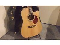 Freshman Apollo 2DC Solid Top Dreadnought Electro Acoustic Guitar - Collection Only.