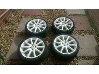 "17"" Ispiri alloy wheels 4x100 very good tyres"